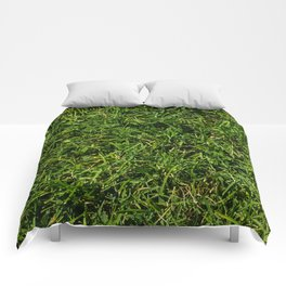 The Grass is Always Greener Right Here Comforters