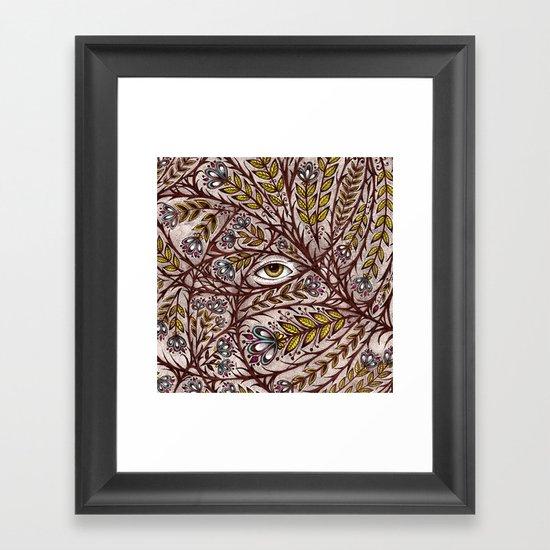 Golden Eye Framed Art Print