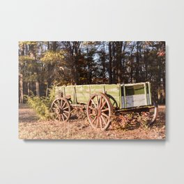 Fall farm days Metal Print