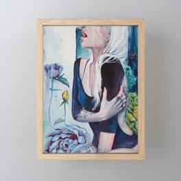 In Her Garden Framed Mini Art Print