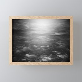 sunset on the aquia river in black and white Framed Mini Art Print