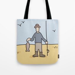 Beavid and Butthead Fisherman picture Tote Bag