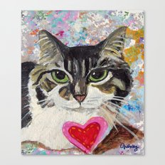 Fluffy Cat Canvas Print