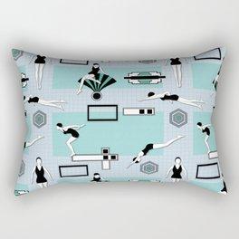 Art Deco Swimmers Rectangular Pillow