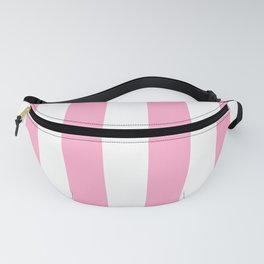 Pale Sweet Lilac and White Wide Vertical Cabana Tent Stripe Fanny Pack