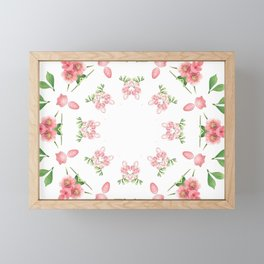 Shabby Chic Floral Mandala Framed Mini Art Print