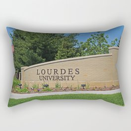Lourdes University- Lourdes Entrance in the Spring I Rectangular Pillow