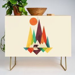 Bear In Whimsical Wild Credenza