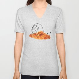 croissant snail Unisex V-Neck