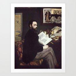 Edouard Manet - Portrait of Emile Zola Art Print