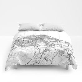 Edinburgh Map White Comforters