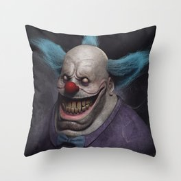 Krusty the Clown Throw Pillow