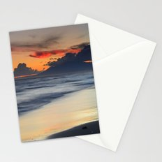 Magic red clouds. Sea dreams Stationery Cards