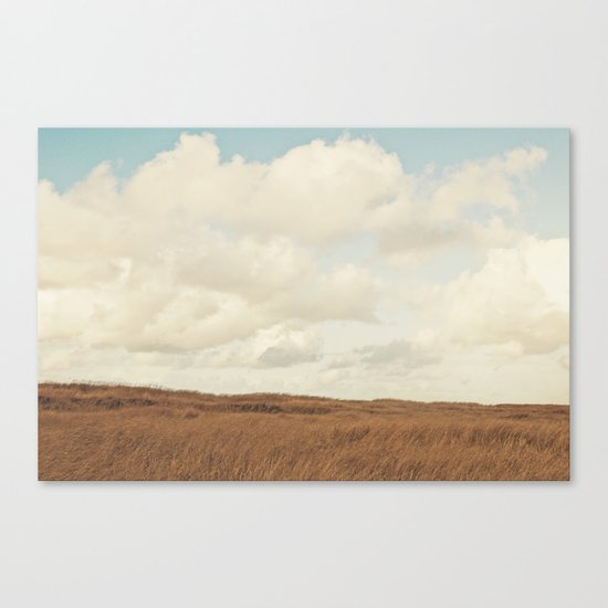 Clouds over the Field Canvas Print