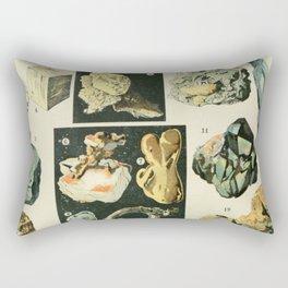 Vintage Minerals Chart Rectangular Pillow