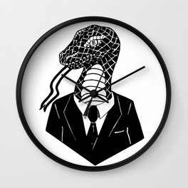 Snake in a Suit Wall Clock
