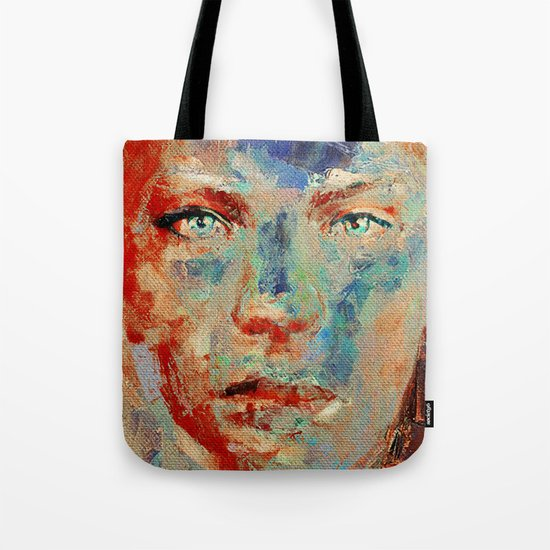 Face in Saturated Color's 5 Tote Bag