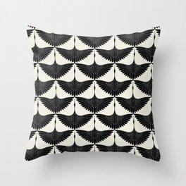 CRANE DESIGN - pattern - Black and White Deko-Kissen