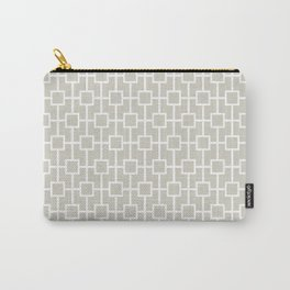 Wolf Gray Lattice Pattern Carry-All Pouch