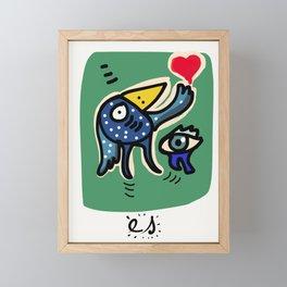 Birds of Love Illustration Poster Framed Mini Art Print