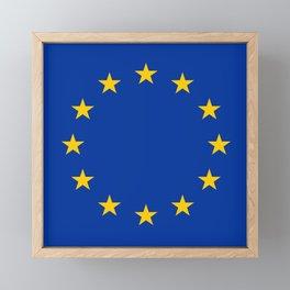 Flag of Europe 4 Framed Mini Art Print