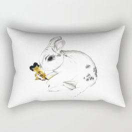Some'bunny' Loves You (Single Bunny/White) Rectangular Pillow