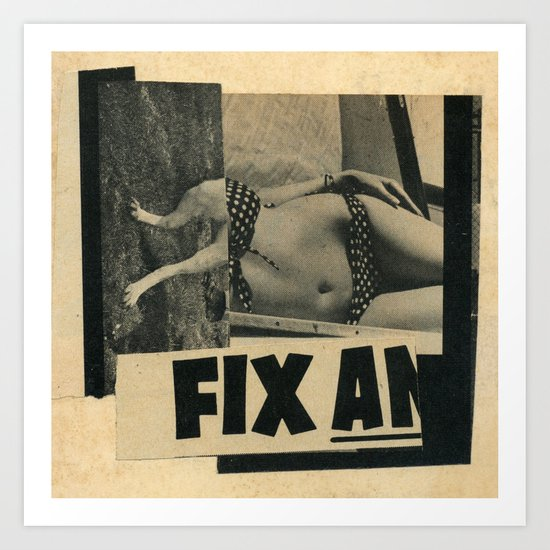 Temporary Fix Art Print