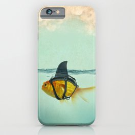 Brilliant DISGUISE - Goldfish with a Shark Fin iPhone Case