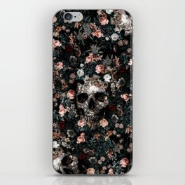 Skull and Floral pattern iPhone Skin