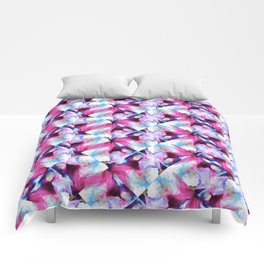 Rainbow Down Abstract Watercolor Painting Comforters
