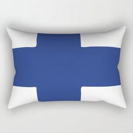 Finland flag emblem Rectangular Pillow