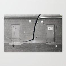 Concrete vs Abstract Canvas Print