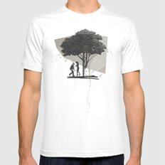 (Down By The) Family Tree | Collage Mens Fitted Tee MEDIUM White