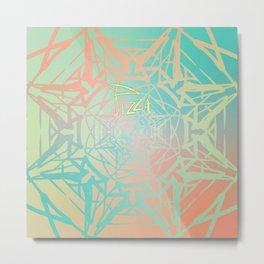 Symmetry 11: Pizza Star Metal Print