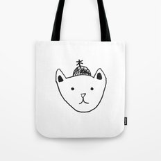 Being Fancy in a Hat Tote Bag