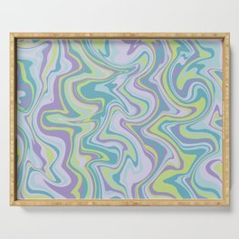 Marbled Psychedelic 70s Pattern Serving Tray