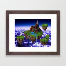 Floating Kingdom of ZEAL - Chrono Trigger Framed Art Print