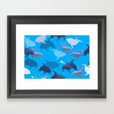 Aquaflage Framed Art Print