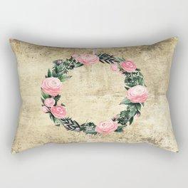 Wreath #Rose Flowers #Royal collection Rectangular Pillow