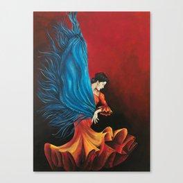 Spanish Flamenco Dancer Canvas Print