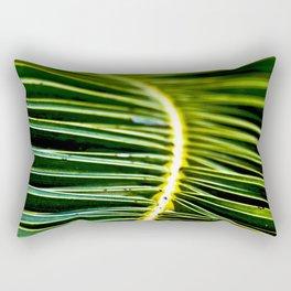 Magic Green Palm Leaves Rectangular Pillow
