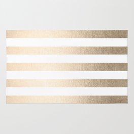 Simply Striped in White Gold Sands Rug
