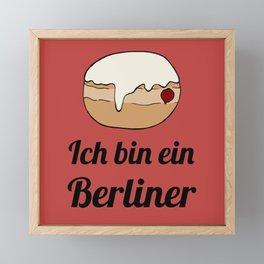 Ich bin ein Berliner Framed Mini Art Print