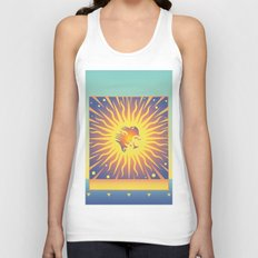 Golden Rays Unisex Tank Top