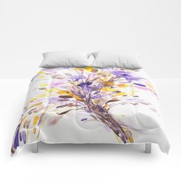 Fall Floral Watercolor Comforters
