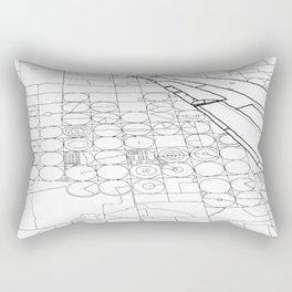 Texas from the Sky - Line Art Rectangular Pillow