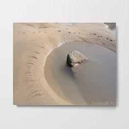 TIDAL POOL SANDYMOUTH BEACH CORNWALL Metal Print