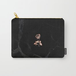Forever Petal (Black Rose) Carry-All Pouch