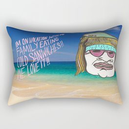 Hawaii Vacation with the family Rectangular Pillow