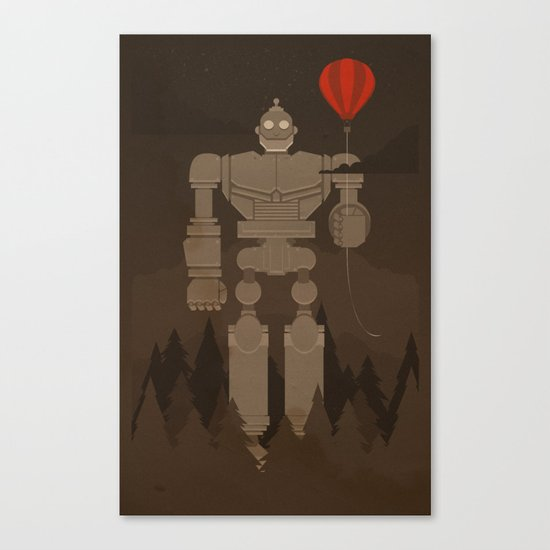The Robot and The Balloon Canvas Print